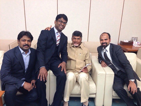 Photos with Telugu people in Japan