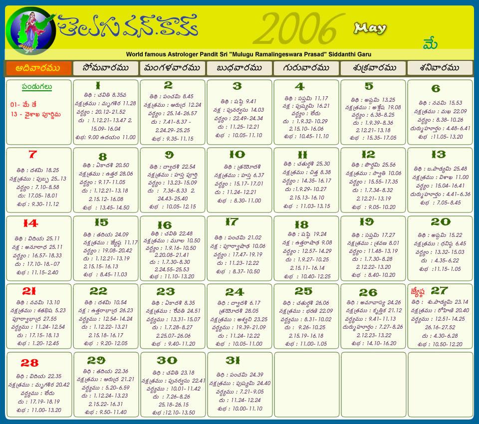 Telugu Calendar 2012 | Telugu Calendar 2011 | Telugu Calendar 2010 ...