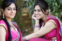 Aksha in Half Saree Photos