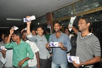 Pawan Fans Hungama at Sreeramulu Theatre
