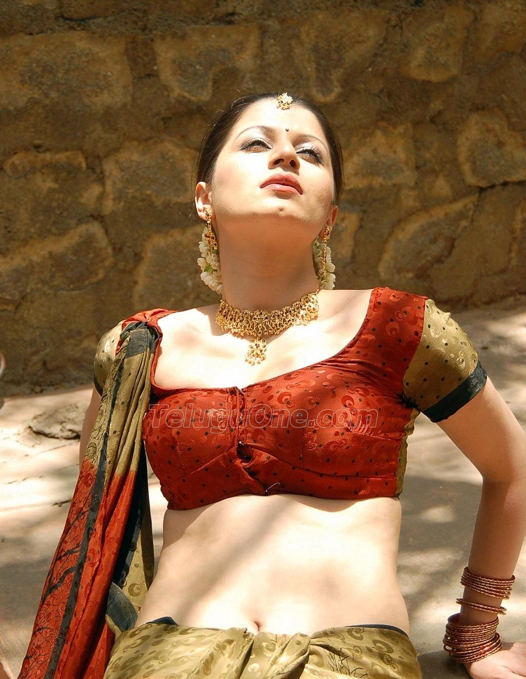 ... Hot Navel In Transparent Saree At Bodyguard Movie Photo 566x800