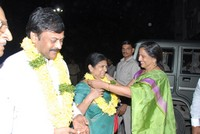 Chiru Visit Film Nagar Temple Photos