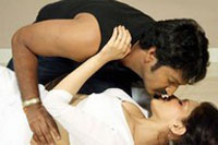 Actress Romantic Lip Lock