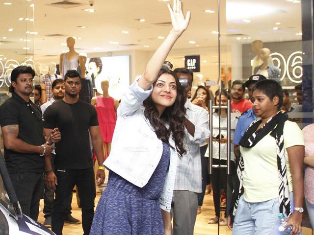 Kajal Launches Gap Store at Phoenix Mall