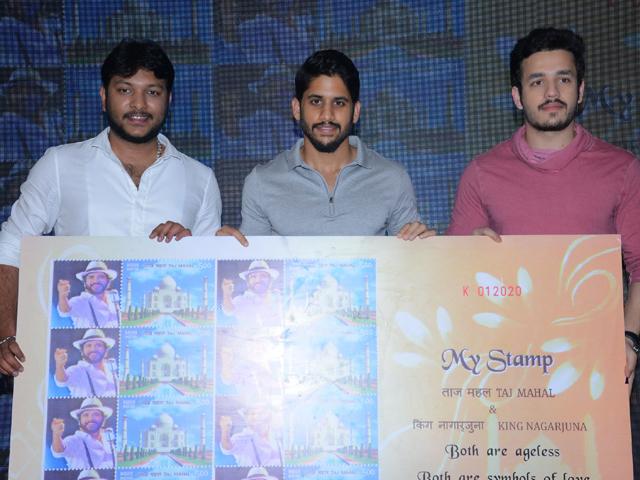 Naga Chaitanya and Akhil Launch NAG Birthday Stamp