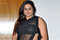 Namitha Spicy Show In Black Saree