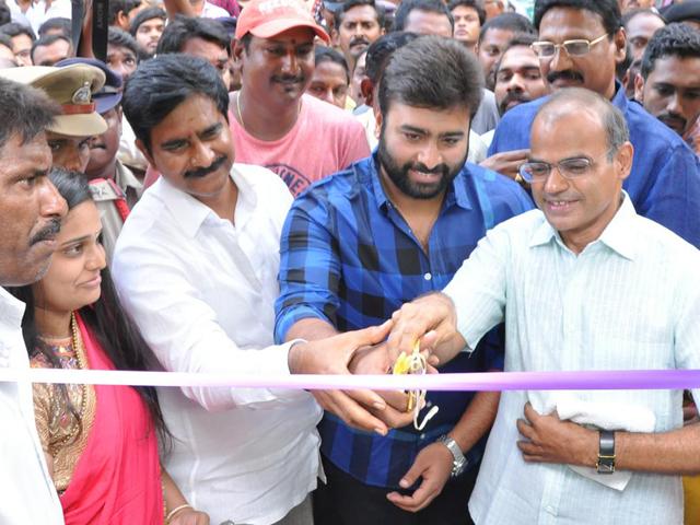 Nara Rohith launches Santos Klub F5 Restaurant in Vijayawada