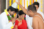 Ramcharan and Upasana Visit Temple