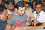 Saif Ali Khan at Colaba Police Station