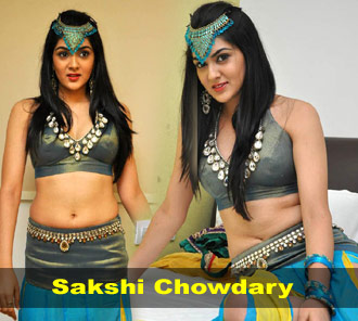 Sakshi Chowdary Navel Show Photos