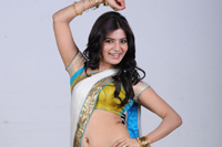 Samantha Half Saree Navel Stills