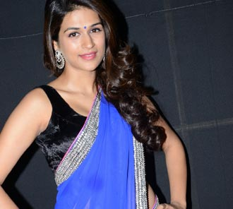 Shraddha Das Blue Saree Stills