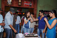 Shruti Haasan Birthday at Yevadu Set