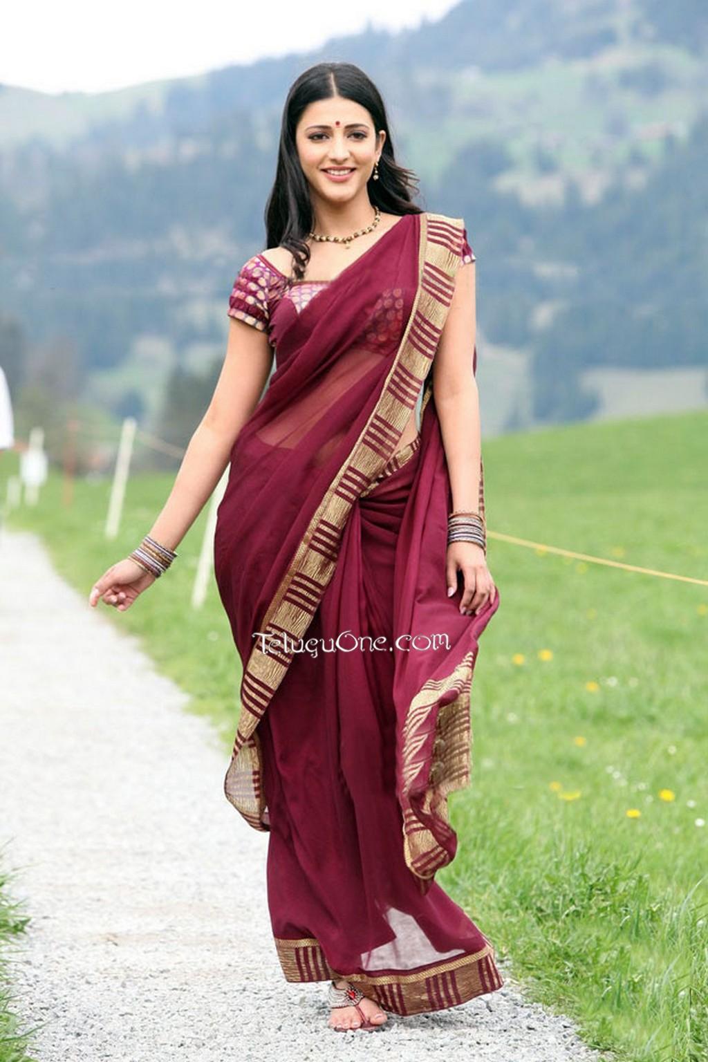Image result for shruti hassan saree