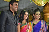 Singer Malavika Wedding Reception Photos