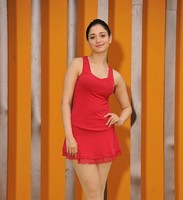 Tamanna Stills in Red Dress