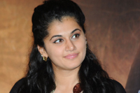 Tapsee at Sahasam Success Meet
