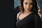 Trisha Black Saree Stills