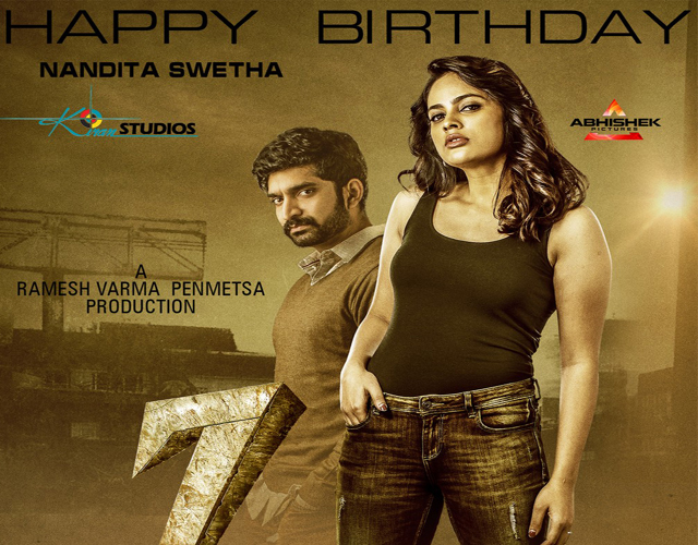7 Movie Nandita Swetha Birthday Wishes Poster