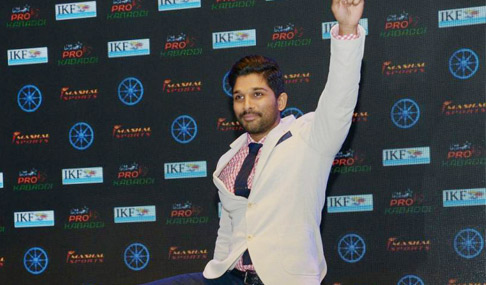 Allu Arjun is Pro Kabaddi Brand Ambassador Photos