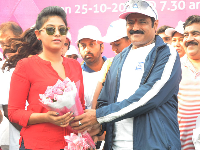 Balakrishna at Breast Cancer Awareness Walk