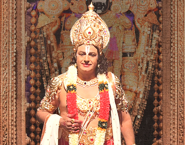 Balakrishna as Lord Venkateswara from NTR Biopic