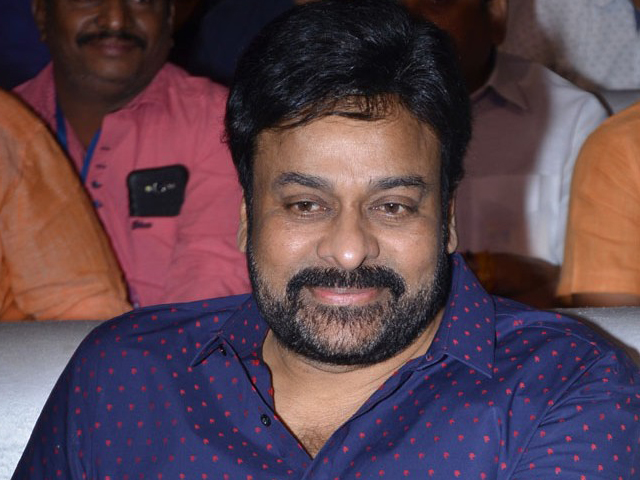 Chiranjeevi at Mister Pre Release Function