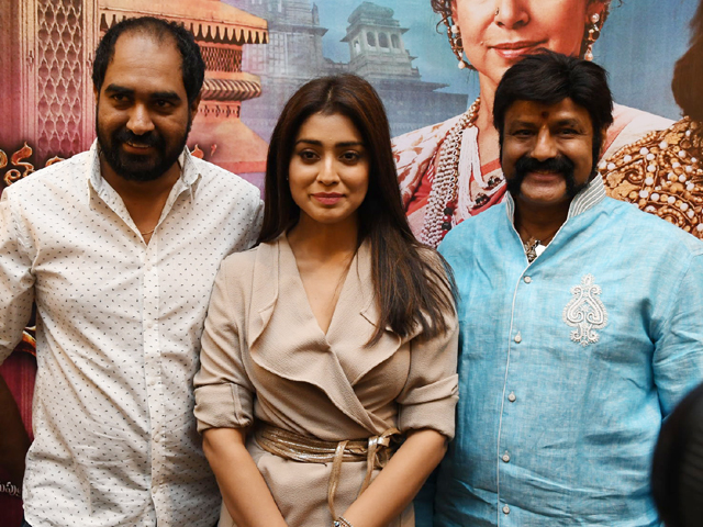 Balakrishna And Shriya Promote GPSK