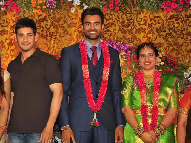 Mahesh Babu Photos at Hero Shiva Wedding Reception