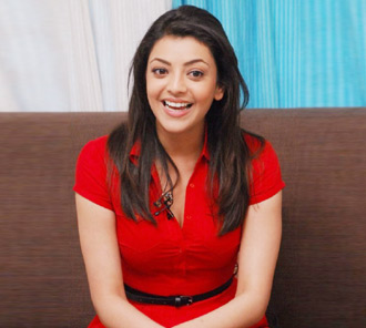 Kajal Agarwal Stills in Red Dress