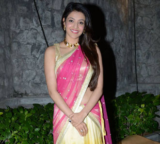 kajal at Dil Raju Daughter Wedding reception