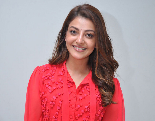 Kajal Aggarwal Red Top Stills