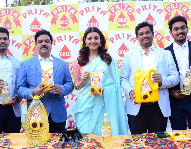 Kajal Brand Ambassador for Priya Gold Edible Oils
