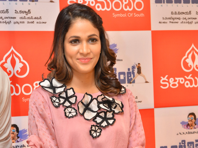Lavanya Tripathi Stills At Inttelligent 4th Song Launch