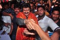 Balakrishna Watches Lion Movie at Bramaramba Theatre