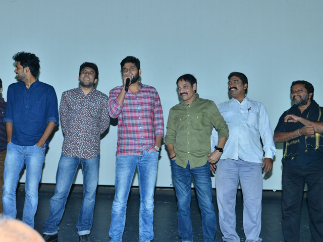Mental Madhilo Movie Team at Sandhya Theater