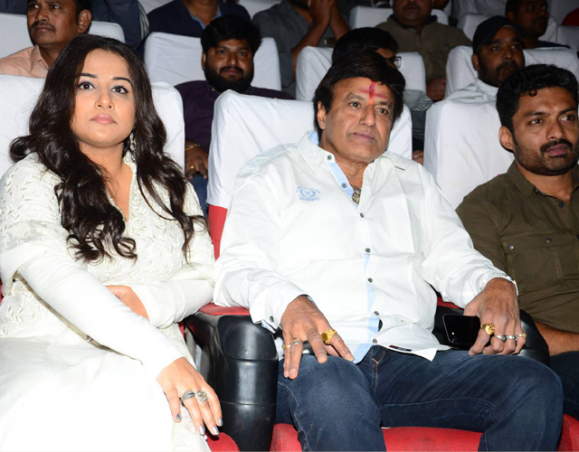 Balakrishna Watching  NTR Kathanayakudu at Bramaramba Theater