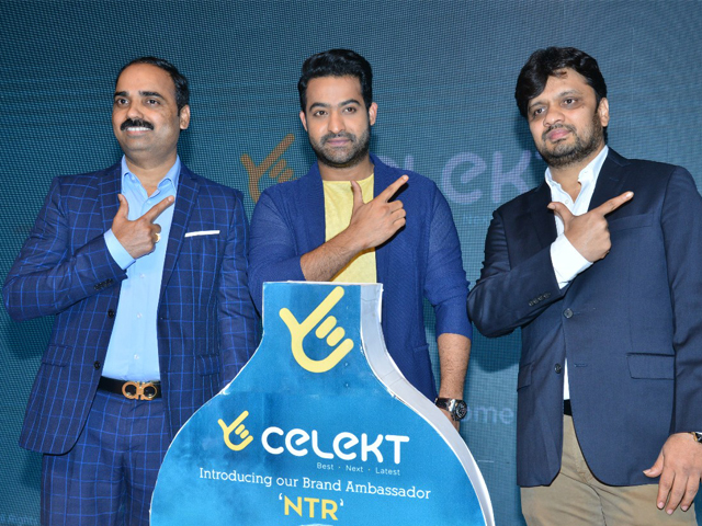 Jr Ntr as Celekt Mobiles Brand Ambassador Eve