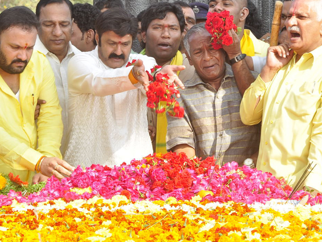 Balakrishna at NTR Ghat Photos