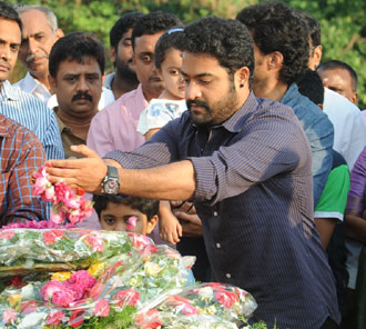 JR NTR Photos at NTR Ghat