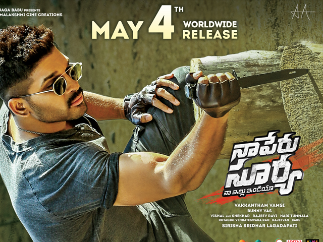 Naa Peru Surya Movie Release Date Posters