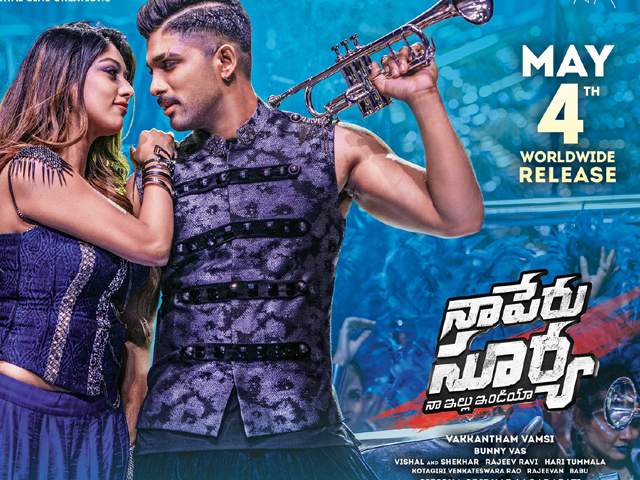 Naa Peru Surya Release Date Posters