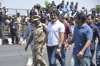 Nagarjuna and Nagachaitanya at Red Bull F1 Showrun