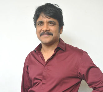 Nagarjuna Stills at Manam Success Meet