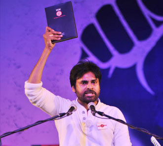 Pawan Stills at Jana Sena Youth Meet