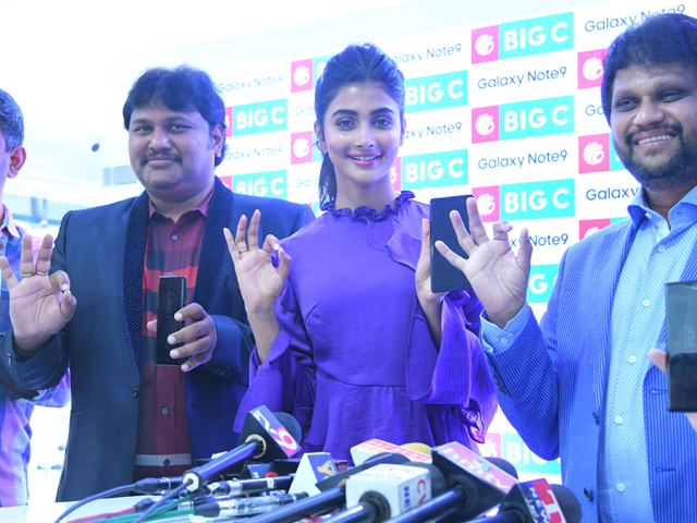 Pooja Hegde Launches Samsung Galaxy Note 9 Mobile