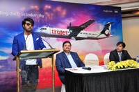 Ram Charan Trujet Airways Press Meet Photos