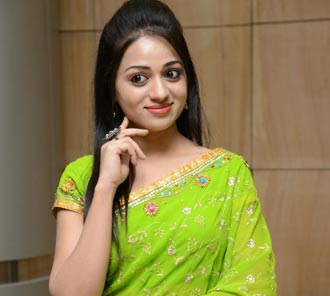 Reshma Green Saree Photos