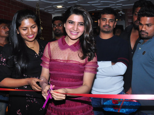 Samantha Launches T Grill Restaurant Photos