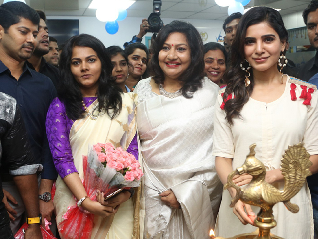 Samantha Launches V Care Super Speciality Clinic